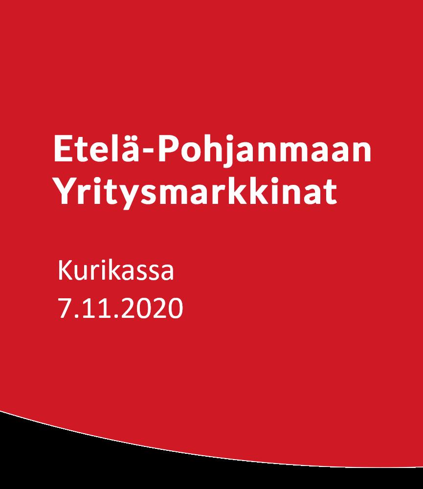 Etelä-Pohjanmaan Yritysmarkkinat Kurikassa 7.11.2020